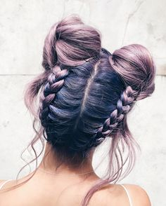 "39.1k Likes, 455 Comments - Li-Chi Pan ☁️ (@lichipan) on Instagram: ""Loving my new braided double buns ✨ Lucky to be working with such incredible artists with so much…"""