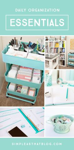 Daily Organization Essentials For anyone who finds themselves agitated and unsettled when their home is out of order, here are 8 organization essentials that help me keep clutter in check! Daily Organization, Storage Organization, Organize Life, Organizing Your Home, Organising, Organizing Tools, Ideas Prácticas, Space Crafts, Craft Storage