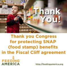 Thanks for protecting hunger programs like SNAP (food stamps)!