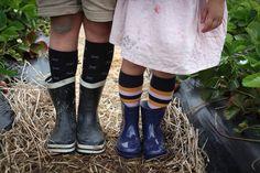 Lamington Design 2018 Range merino socks nz made striped fun bold kids fashion strawberry picking Strawberry Picking, Ankle Length, Rubber Rain Boots, Cool Designs, Kids Fashion, Socks, Range, Legs, Fun