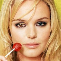 Kate Bosworth belongs to a small group of people with heterochromia iridium – two different eye colors. Other celebrities with the unique condition include Mila Kunis, Kiefer Sutherland and Elizabeth Berkley. Clara Alonso, Jessica Stam, Joanna Krupa, Demi Rose, Anja Rubik, Zooey Deschanel, Kate Bosworth Eyes, Beautiful Eyes, Most Beautiful Women