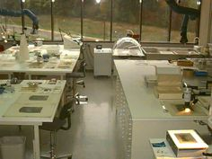 Paper Conservation Lab at Smithsonian's Museum Support Center