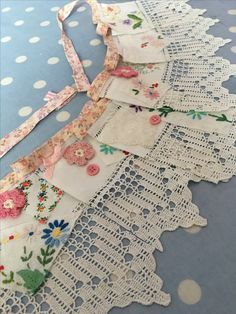 Embroidered bunting for sale x