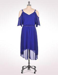 Women's | Dresses | Cold-Shoulder High-Low Dress | dressbarn