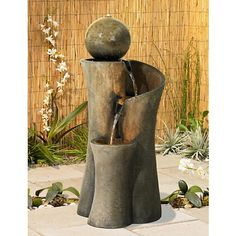 Bringing a sleek and modern element into your home that embraces the virtues of nature is easy with this contemporary fountain.