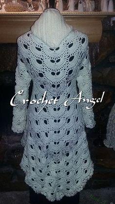 Ravelry: Colonial Cardigan pattern by Paula Marie Crochet Coat, Crochet Cardigan Pattern, Crochet Shirt, Crochet Jacket, Crochet Clothes, Gilet Long, Crochet Fashion, Beautiful Crochet, Clothing Patterns