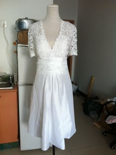 Vintage Lace Wedding Dress Plus size Wedding Dress by wonderxue, $190.00