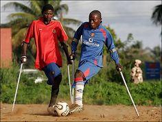 Liberia amputee soccer team