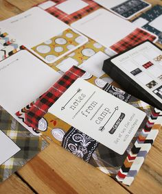 Adorable! :: 'Notes From Camp' Stationery Set by 1canoe2 letterpress