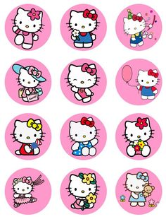 A personal favorite from my Etsy shop https://www.etsy.com/listing/493455059/hello-kitty-cupcake-toppers-or-stickers