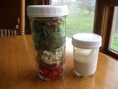 Salad in a Fermenting Jar