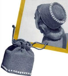 Fez Hat from Hats, Bags and Bulky Sweaters Book 107m originally 25 cents. The American Thread Company
