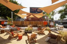 Beach Nation is the new outdoor beach-style cafe on Santa Monica Boulevard, just blocks from Beverly Hills, Melrose, and the Sunset Strip. The spacious deck is an oasis in the middle of the city: waving palm trees, rustling sea grasses… a stylish beach cafe vibe created by famed designer Thomas Schoos. Plus a huge sand box right in the middle of the action — take your shoes off and feel the sand between your toes! Visit www.xplorela.com