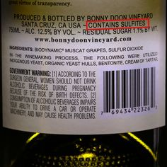 Don't worry about sulfites in wines—they're not going to kill you, and they're already in a lot of things you eat. #Wine #Winenews #Wineeducation #Health #Sulfites