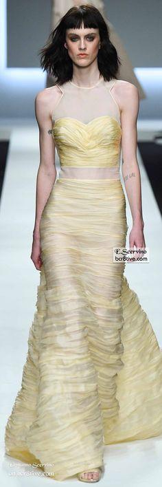 Ermanno Scervino Spring 2016 Ready-to-Wear Fashion Show - Look Brannon Runway Fashion, Fashion Show, Women's Fashion, High Fashion, Festa Party, Italian Fashion Designers, Gala Dresses, Yellow Fashion, Ermanno Scervino
