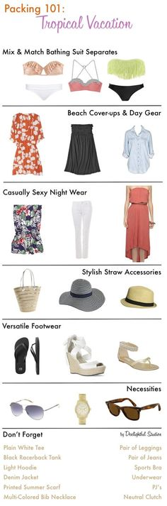 Deelightful Studios: Beach Essentials: What to pack for vacation Travel Outfit Summer, Summer Outfits, Summer Travel, Beach Travel, Holiday Outfits, Travel Wardrobe, Capsule Wardrobe, Vacation Wardrobe, Cute Fashion