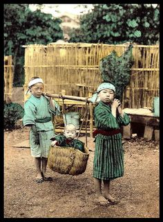 Ca.1920 hand-colored collotype photo. Photographer unknown..  Okinawa Soba, via Flickr