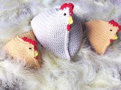 Kippetjes gehaakt met Merino 130 compact van Lang Yarn. Lang Yarns, Compact, Crochet Hats, Knitting Hats