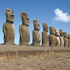 Statues of Easter Island: Easter Island, Chile - World of Funny Photoshop, Photoshop Design, Patagonia, Easter Island, Widescreen Wallpaper, Angkor, Beautiful Buildings, Photo Manipulation, Ancient History