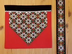 Bunad og Stakkastovo AS Hardanger Embroidery, Hand Embroidery, Palestinian Embroidery, Quilts, Blanket, Beads, Fabric, Diy, Home Decor