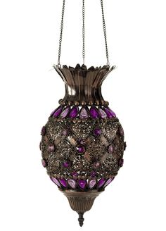 Moroccan Treasures - Beaded Hanging Lamp