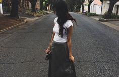 Posts about Vintage written by Tatiana Satin Midi Skirt, Green Satin, Crop Tee, White Skirts, White Tees, Copper, Velvet, Lifestyle, Beach