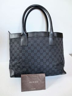 AUT GUCCI TOTE HOBO Handbag GG monogram canvas MEDIUM Purse Bag FREE  SHIPPING  fashion   1ee2a94dc97