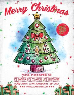 merry x mas free christmas flyer template httpfreepsdflyercom