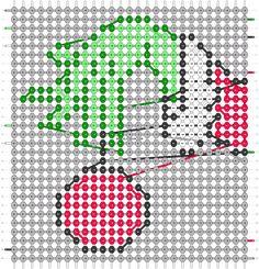 Plastic Canvas Ornaments, Plastic Canvas Christmas, Plastic Canvas Crafts, Plastic Canvas Patterns, Beaded Earrings Patterns, Hama Beads Patterns, Beading Patterns, Hamma Beads Ideas, Grinch