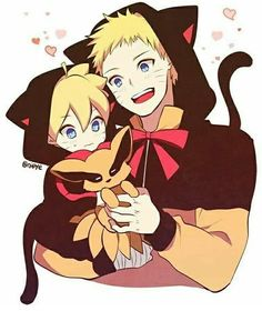 NARUTO AND BORUTO KAWAII~~~♡♡