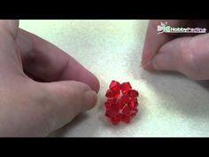 Come realizzare un cuore con il bicono Swarovski | Tecnica - HobbyPerline.com - YouTube