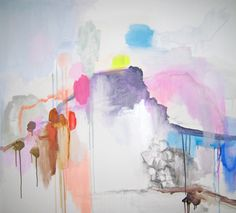 Artist Arite Kannavos's abstract paintings are making my head a much funner place today.