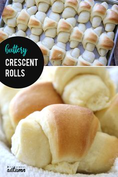 These Buttery Soft Crescent Rolls Are The Best Homemade Rolls You've Ever Tasted Click Through For The Recipe And A Video Tutorial. Homemade Crescent Rolls, Homemade Dinner Rolls, Dinner Rolls Recipe, Crescent Roll Recipes, Gluten Free Crescent Rolls, Dinner Recipes, Dessert Recipes, Butterhorn Rolls Recipe, Butterhorns Recipe