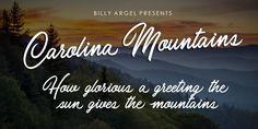 Carolina Mountains Font | dafont.com