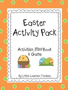 Add some Easter fun to your class with this activity pack! It is filled with math and language activities, including morning work, word family worksheets, a mini book, a math game and a math board game. Here's what this Activity Pack contains: Easter Worksheets, Easter Activities, Literacy Activities, Math Games, Fun Games, Math Boards, Little Learners, Language Activities, Word Families
