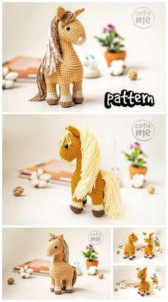 Crochet Pony, Crochet Horse, Crochet Dragon, Free Crochet, Crochet Summer, Crochet Animal Patterns, Crochet Blanket Patterns, Crochet Animals, Crochet Crafts