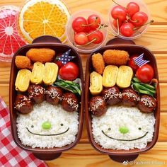 750 x 750 pixels - Lunchboxen/Bento - Bento Ideas Bento Kids, Bento Box Lunch, Cute Bento Boxes, Bento Recipes, Baby Food Recipes, Comida Picnic, Cute Food, Yummy Food, Boite A Lunch