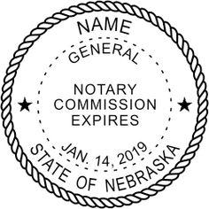 Nebraska notary stamp.