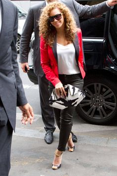 Beyonce Leopard Pants - Beyonce and Solange Knowles Style - Elle