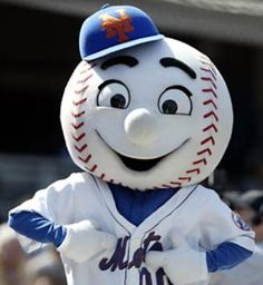 Mr.Met.The New York Mets Mascot.