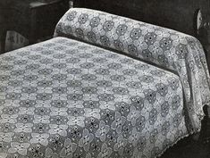 Pineapple Bedspread crochet pattern from Pineapples on Parade, Clark's O.N.T. J. Coats, Book No. 241, in 1948.