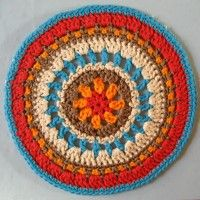 Crochet Mandala Wheel made by Brenda, Belfast, UK for yarndale.co.uk