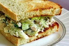 The best ever tuna fish tuna salad sandwich.  Uses tuna, canned or freshly cooked, cottage cheese, mayo, red onion, celery, capers, lemon, parsley, dill, and Dijon.