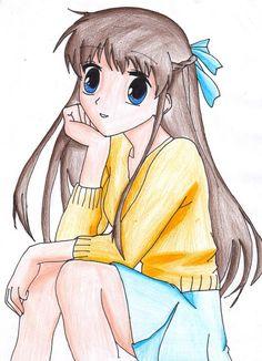 Tohru Honda by on DeviantArt Strange Family, Tohru Honda, Fruits Basket Manga, Rosario Vampire, Vocaloid, Manga Anime, Pikachu, Animation, Cute