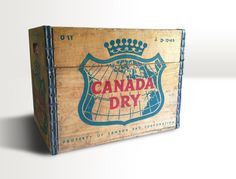 1965 Canada Dry Wooden Vintage Soda Crate by RedRavenCollectibles, $60.00