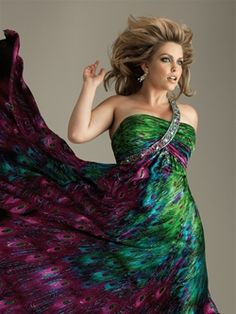 Peacock dress | Everything Peacock | Pinterest | Peacock dress and ...