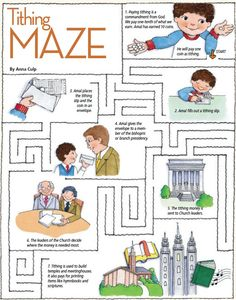 LDS Games - Mazes - Tithing. Lesson 33: I Can Pay Tithing Primary 2: Choose the Right A