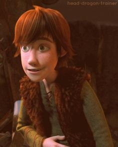 Hiccup looks totally happy about something. lol