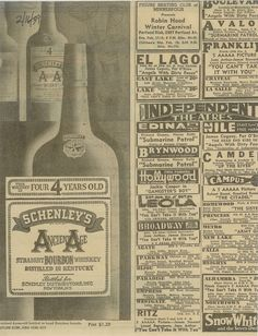 Schenley's Ancient Age Bourbon Whiskey - 30s
