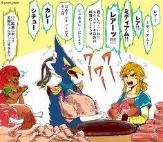 TLoZ: BoTW; Urbosa, Revali & Link Cooking ❤